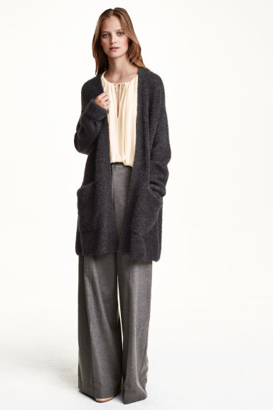 Cardigan in misto mohair - Grigio scuro mélange - DONNA | H&M IT 1