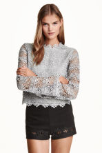 Lace top - Grey - Ladies | H&M GB 1