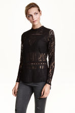 Lace blouse - Black - Ladies | H&M CN 1