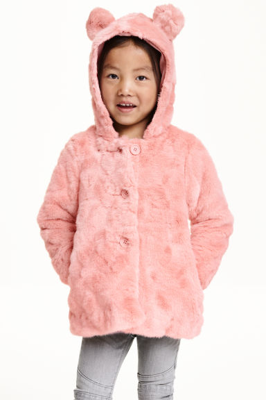 Faux fur coat - Light pink - Kids | H&M CN 1