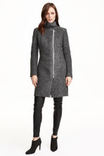 Cappotto in misto lana bouclé - Grigio scuro mélange - DONNA | H&M IT 1