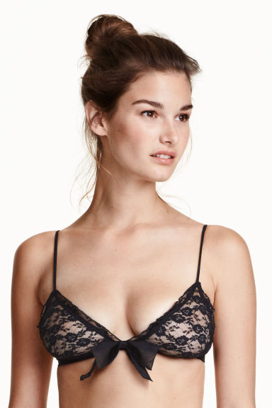 Triangle bra - Black - Ladies | H&M GB 1