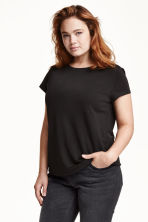 H&M+ Jersey top - Black - Ladies | H&M CN 1