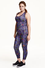 H&M+ Sports tights - Purple/Patterned - Ladies | H&M CN 1