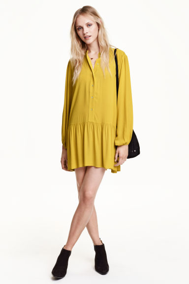 Long-sleeved dress - Yellow - Ladies | H&M GB 1