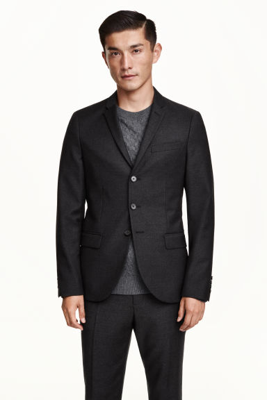 Blazer a 3 bottoni in lana - Grigio scuro - UOMO | H&M IT 1
