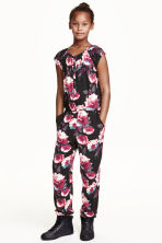 Patterned jumpsuit - Black/Patterned - Kids | H&M CN 1