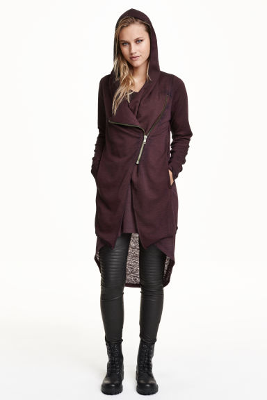 Cardigan felpa con cappuccio - Bordeaux - DONNA | H&M IT 1
