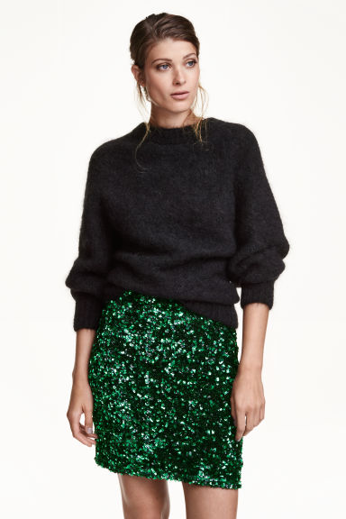 Sequined skirt - Green - Ladies | H&M GB 1