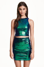 Glittery skirt - Green - Ladies | H&M CN 1