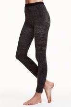 Glittery leggings - Black - Ladies | H&M CN 1