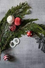 Set van 2 kerstdecoraties - Rood/stippen - HOME | H&M BE 1