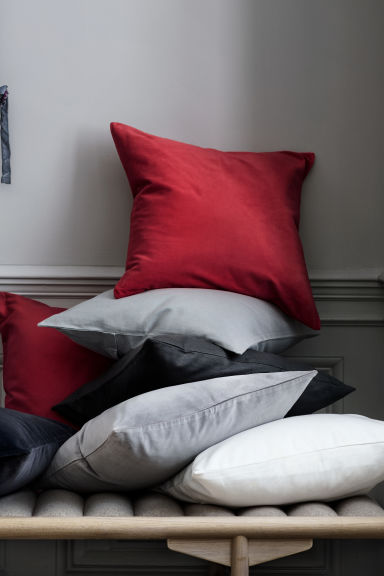 Canvas cushion cover - Grey - Home All | H&M IE 1