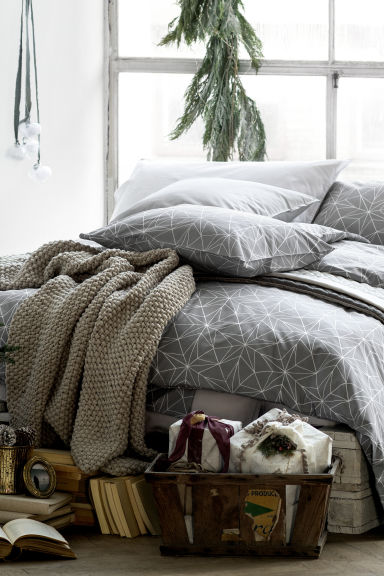 Plaid au point de riz - Beige - Home All | H&M FR 1