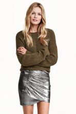 Draped skirt - Silver - Ladies | H&M CN 1