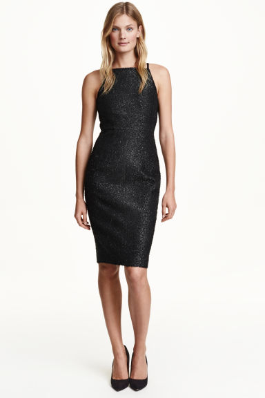 Sleeveless dress - Black/Glitter - Ladies | H&M CN 1