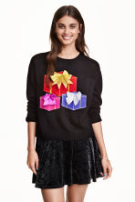 Knitted Christmas jumper - Black - Ladies | H&M GB 1