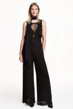 Tuta in chiffon - Nero - DONNA | H&M IT 1