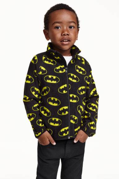 Fleece jacket - Black/Batman - Kids | H&M CN 1