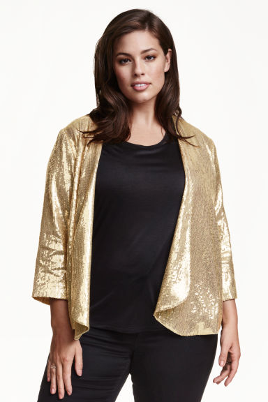 H&M+ Glittery sequined jacket - Gold - Ladies | H&M CN 1