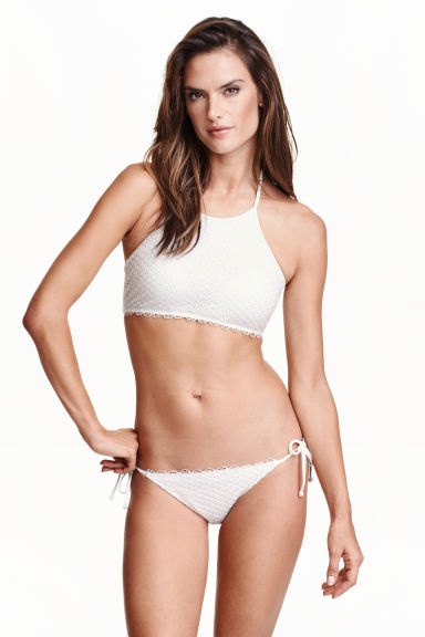Tie tanga bikini bottoms - White - Ladies | H&M CN 1