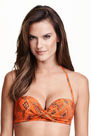Bikini top - Orange/Patterned - Ladies | H&M GB 1