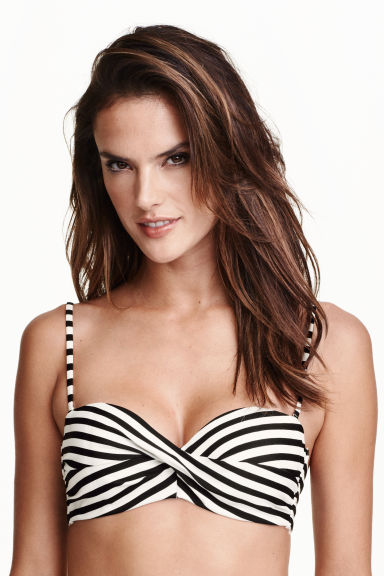 Top bikini - Nero/righe - DONNA | H&M IT