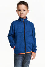 Knitted fleece jacket - Blue marl - Kids | H&M CN 1