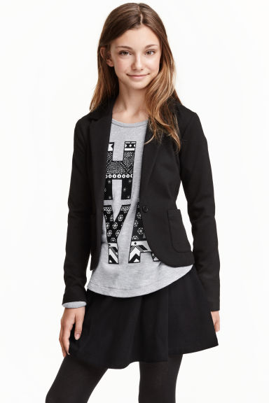 Jersey jacket - Black - Kids | H&M CN 1
