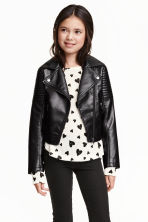 Biker jacket - Black - Kids | H&M GB 1