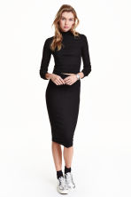 Jersey skirt - Black - Ladies | H&M GB 3