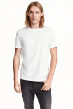 Basic T-shirt - White -  | H&M CN 1