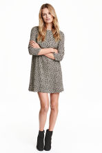 Patterned dress - Black - Ladies | H&M CN 1