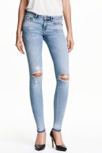 Super Skinny Low Ripped Jeans - 浅牛仔蓝 - 女士 | H&M CN 1