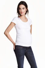 MAMA Jersey top - White -  | H&M 2