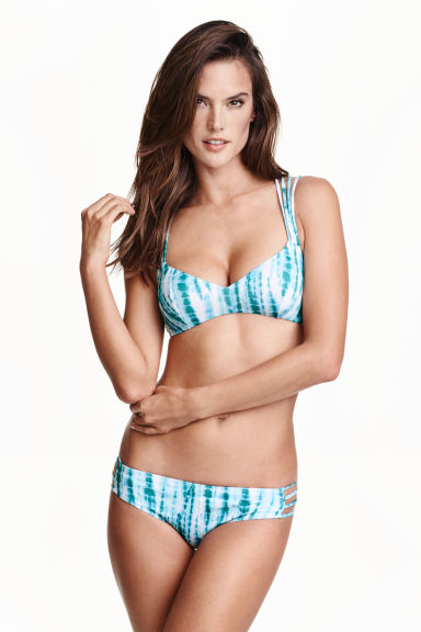 Bikini brief bottoms - Turquoise/Patterned - Ladies | H&M IE 1