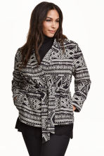 H&M+ Jacquard-weave jacket - Black/Patterned - Ladies | H&M CN 1