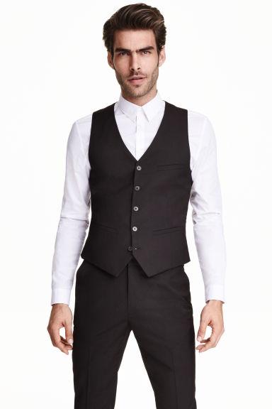 Suit waistcoat - Black - Men | H&M GB