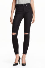 Skinny High Ripped Jeans - Black - Ladies | H&M 2