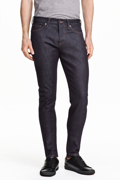 Slim Low Jeans - Ciemnoniebieski denim/Raw - ON | H&M PL 1