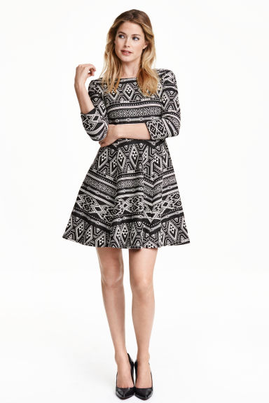 Jersey dress - White/Black - Ladies | H&M GB
