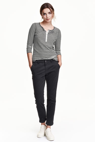 Chinos Slim fit - Black - Ladies | H&M GB 1