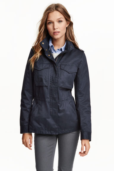 Cargo jacket - Dark blue - Ladies | H&M GB 1