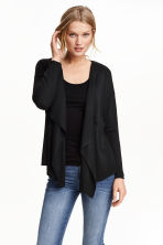 Fine-knit cardigan - Black -  | H&M CN 4