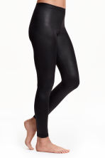 Coated leggings - Black - Ladies | H&M CN 1