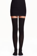 Thigh-high over-the-knee socks - Black - Ladies | H&M CN 1