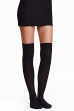 2-pack over-the-knee socks - Black - Ladies | H&M 2