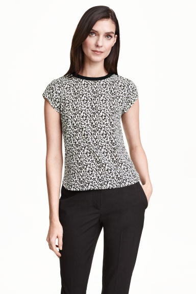 Patterned blouse - White - Ladies | H&M CN 1