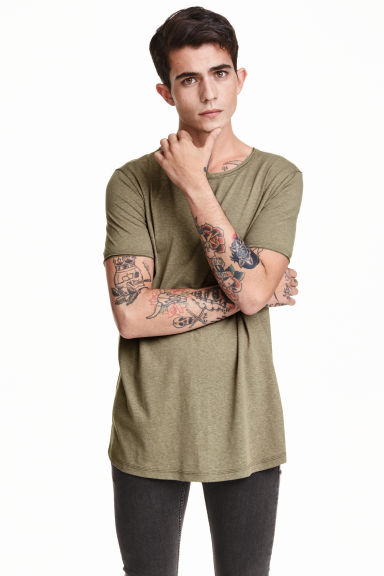 T-shirt - Khaki green - Men | H&M CN 1