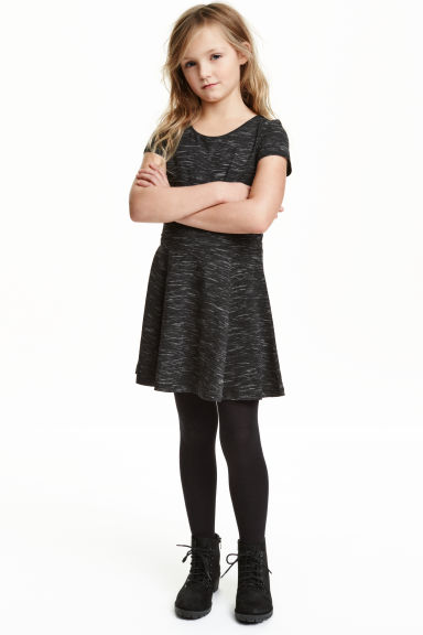 Jersey dress - Black marl - Kids | H&M GB 1